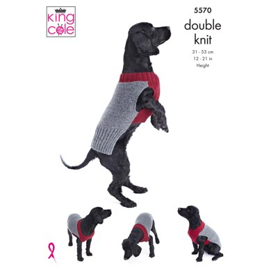 Dog Coats in King Cole Pricewise DK - 5570 - Downloadable PDF