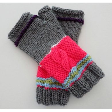 Wild Thing Two! - Fingerless Mittens