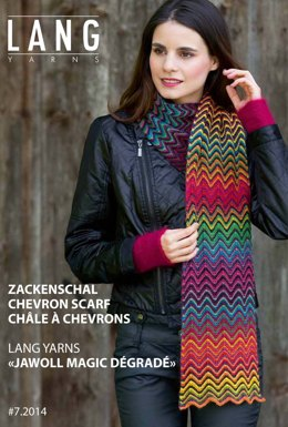 Chevron Scarf in Lang Yarns Jawoll Magic Degrade