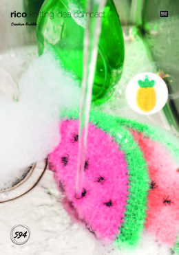 Watermelon, Pineapple and Peach Scrubbers in Rico Creative Bubble - 594 - Leaflet