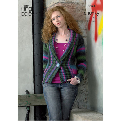 Jacket and Gilet in King Cole Riot Chunky - 3371
