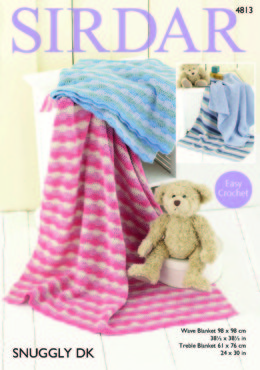 Blankets in Sirdar Snuggly DK - 4813 - Downloadable PDF
