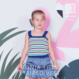 Ronja Thin Stripe Tank in MillaMia Naturally Soft Cotton - Downloadable PDF