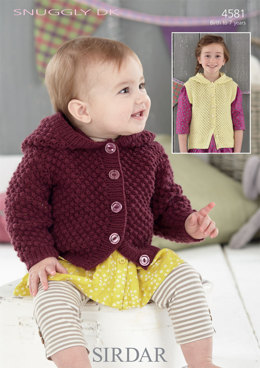 Jacket and Waistcoat in Sirdar Snuggly DK - 4581