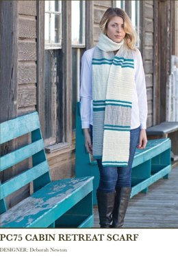 Cabin Retreat Scarf in Imperial Yarn Willamette - PC75 - Downloadable PDF
