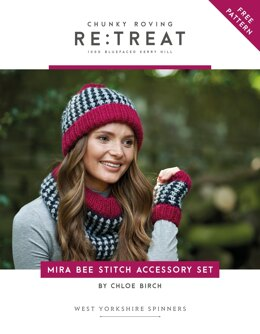 Mira Bee Stitch Accessory Set in West Yorkshire Spinners Re:Treat - Downloadable PDF