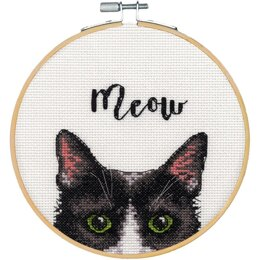 Dimensions Meow Counted Cross Stitch Kit with 6in Hoop