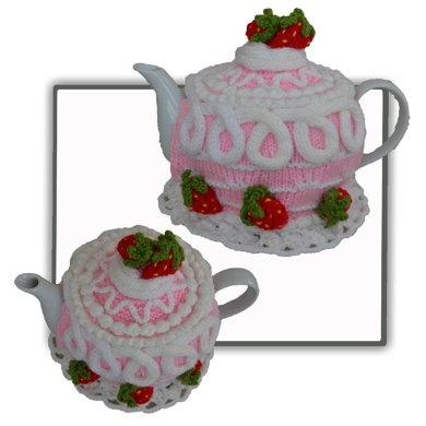 Strawberry Cake Tea Cosy Knitting pattern by T-Bee Cosy Knitting Patterns ...