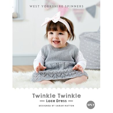 Twinkle Twinkle Lace Dress in West Yorkshire Spinners Bo Peep 4 Ply - DBP0023 - Downloadable PDF