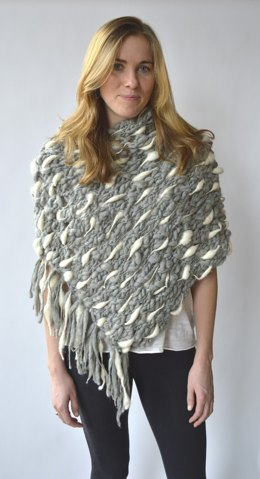 Dash Poncho in Knit Collage Pixie Dust