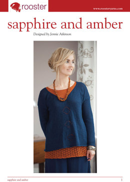 Sapphire and Amber Layered Loose Jumpers in Rooster Delightful Lace