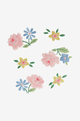 Scattered Roses Floral in DMC - PAT0223 - Downloadable PDF