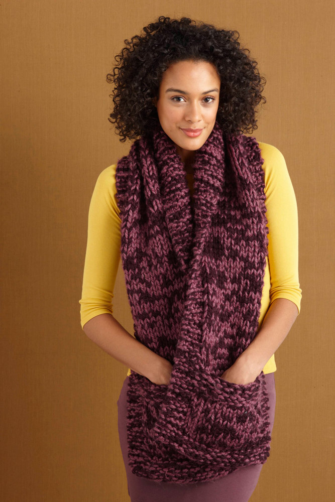 lion scarf thick quick ease wool patterns yarn knitting pocketed october knit loveknitting crochet brands ravelry