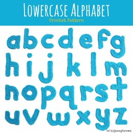 Lowercase Alphabet Crochet Motifs Pattern