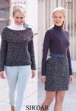 Sweater and Skirt in Sirdar Bouffle - 7391