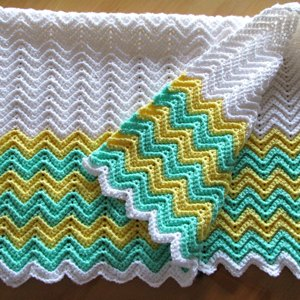 Rickrack Rainbow Baby Blanket In Red Heart Soft Baby Steps