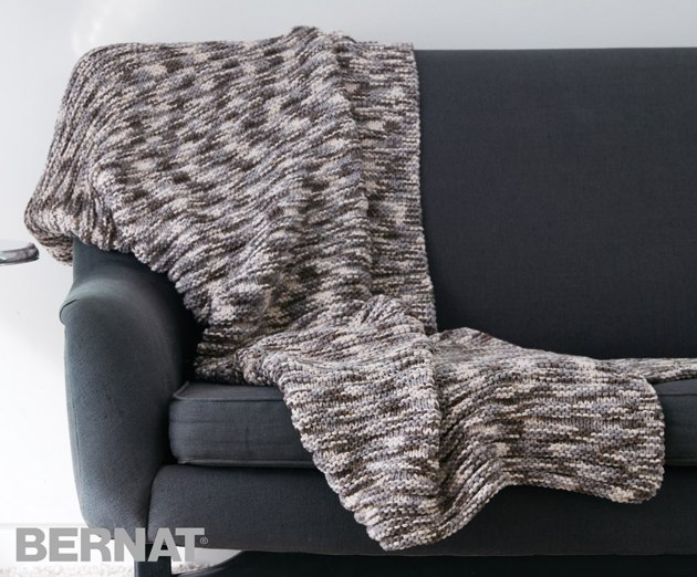 Ridges Blanket In Bernat Maker Home Dec Variegated