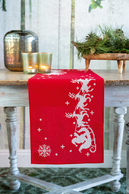 Vervaco Christmas Sleigh Table Runner Cross Stitch Kit