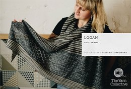 Logan Lace Shawl in The Yarn Collective Portland Lace  - TYC001 - Downloadable PDF