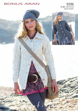 Cabled Jackets in Hayfield Bonus Aran - 9396