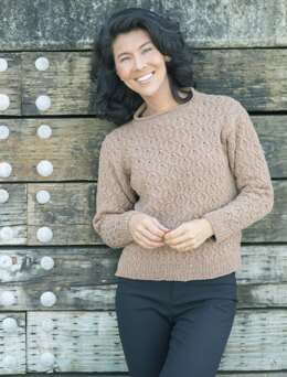 Hollow Oak Pullover in Cascade Yarns Aegean Tweed - DK654 - Downloadable PDF
