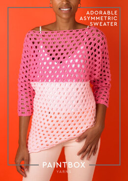 Adorable Asymmetric Top in Paintbox Yarns Simply Aran - Downloadable PDF