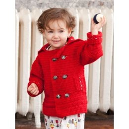 Pea-wee Coat in Pea-wee Coat in Bernat Vickie Howell Sheep-ish - Downloadable PDF