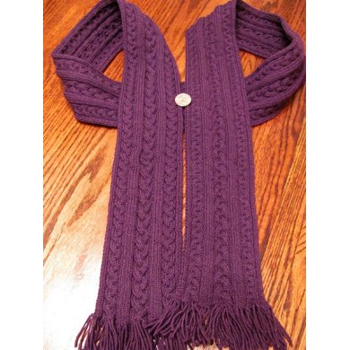 Plaited Cabled Scarf