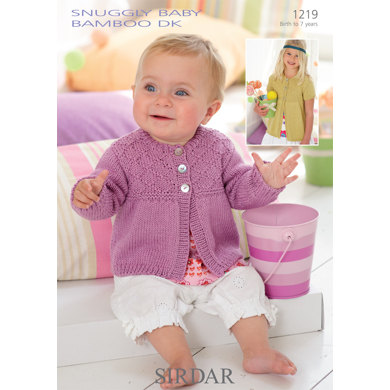 Cardigans In Sirdar Snuggly Baby Bamboo Dk 1219 Downloadable Pdf