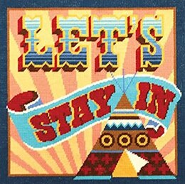 DMC Let's Stay In Tapestry Cushion Front Kit -  40 x 40cm
