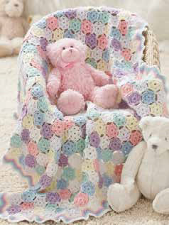 Tiny Snowflakes Baby Blanket in Caron Simply Soft - Downloadable PDF