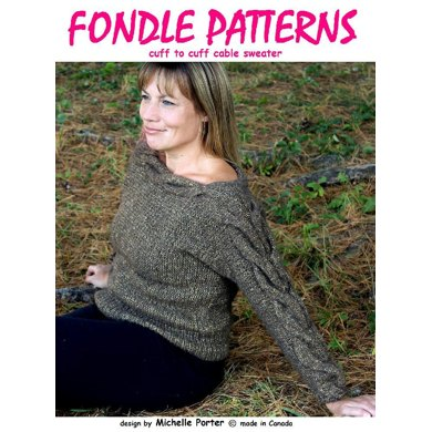 Cuff To Cuff Cable Sweater Knitting Pattern By Michelle Porter