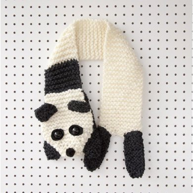 Beginners Panda Scarf Knitting Pattern By Louise Walker Knitting