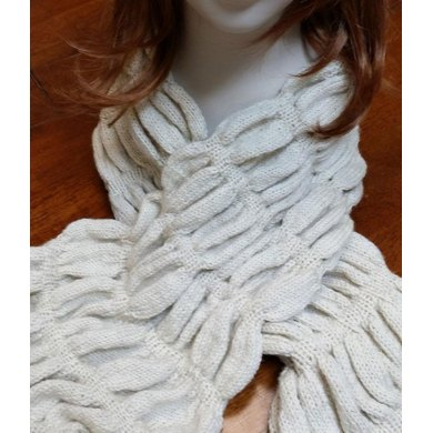 Snowdrifts Ruched Scarf