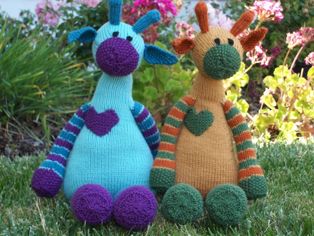 Mango The Giraffe Knitting pattern by The Byrds Nest Knitting Patterns...