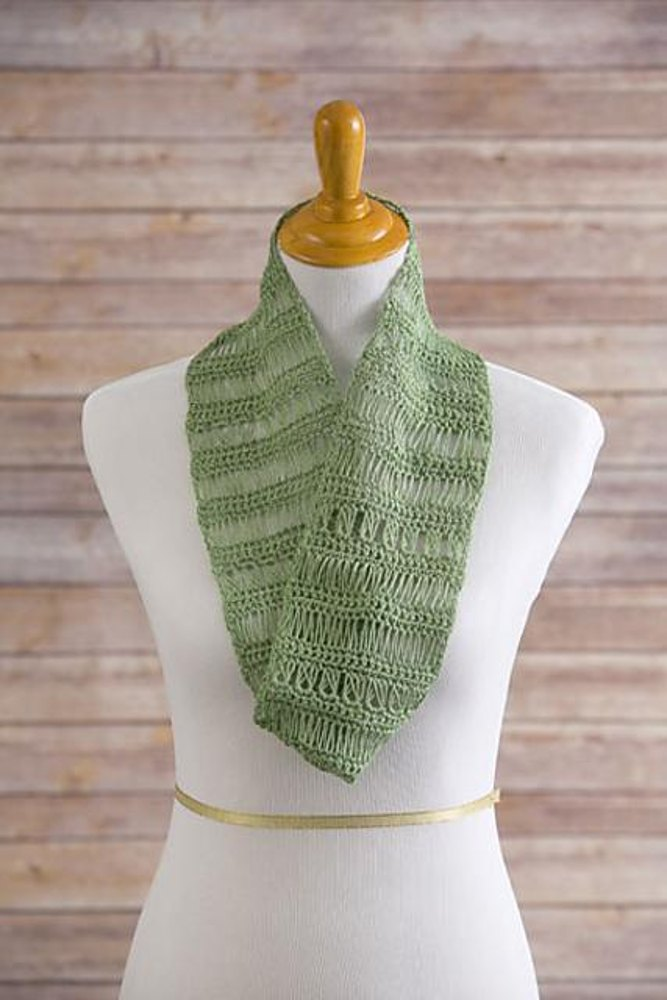 Spring Lace Infinity Scarf Crochet Pattern By Moogly
