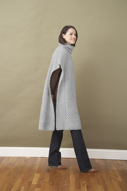 Honeycomb Poncho in Lion Brand Wool-Ease - 90182AD