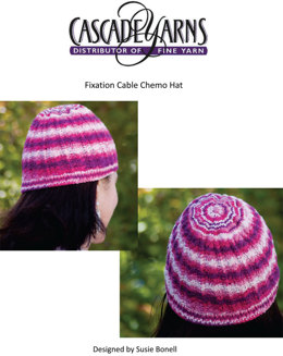 Cabled Chemo Cap in Cascade Fixation - FW153
