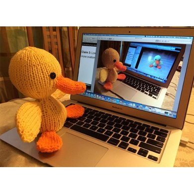 Knitkinz Duck - for Your Office