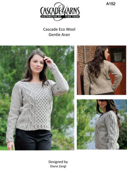 Gentle Aran in Cascade Ecological Wool - A152
