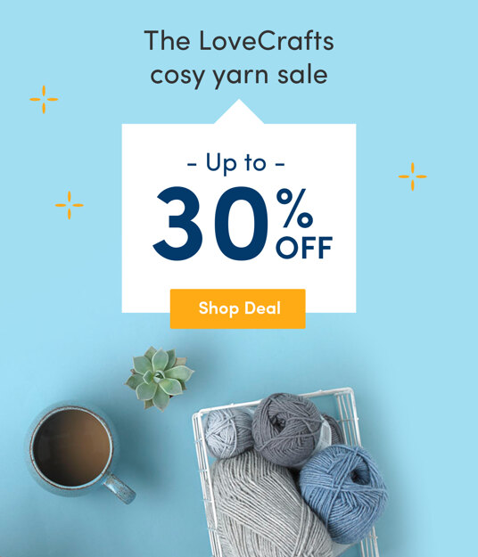 Up to 30 percent off cosy yarns!