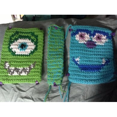 crochet monsters inc Mike and Sully inspired toys by LeftysDesigns ... | 390x390