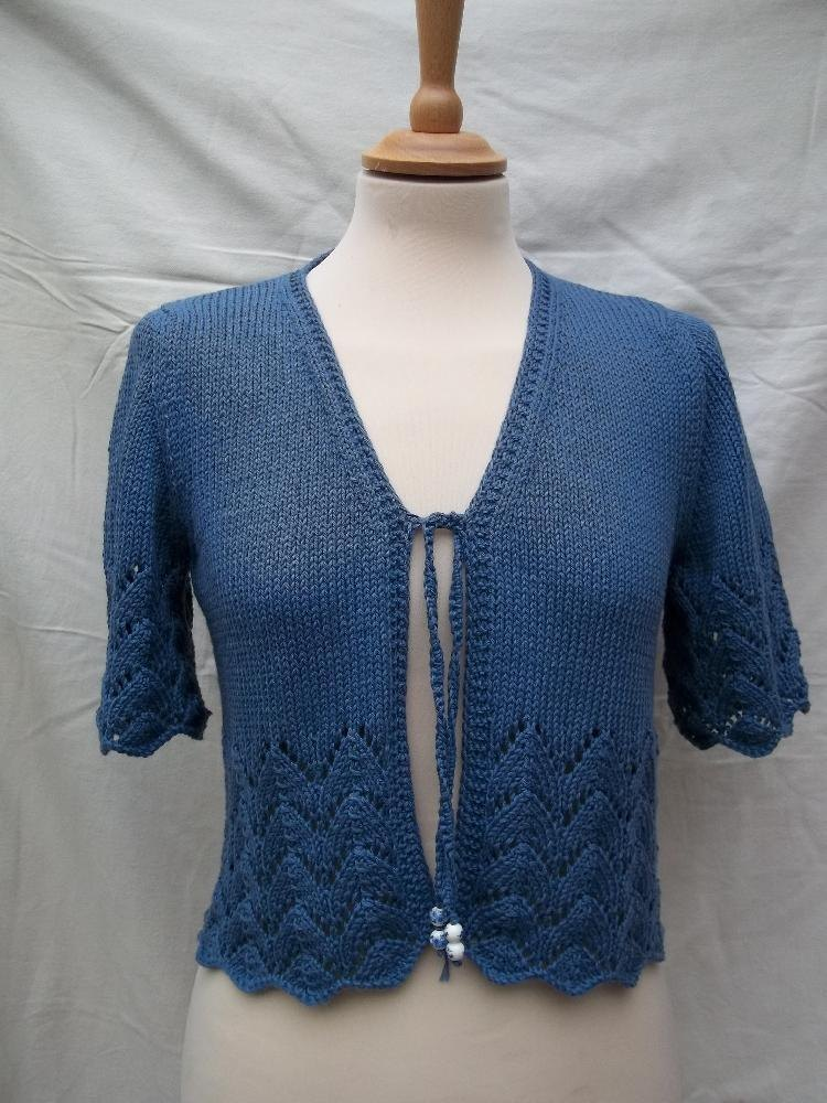 DK Lace Edge Bolero Knitting pattern by Willow Knits ...