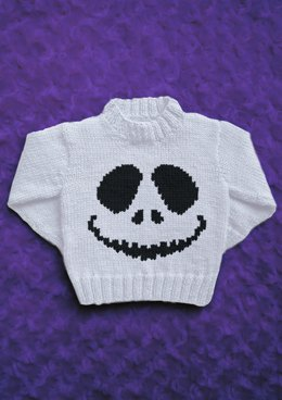 Intarsia - Skellington Face Chart - Childrens Sweater