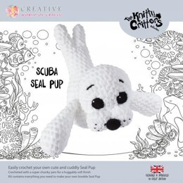 Creative World of Crafts Knitty Critters Scuba Seal Pup - 51cm