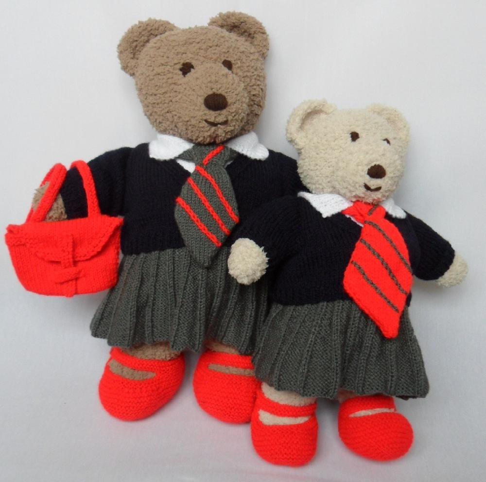 Cuddle and Snuggle Teddy Bear Clothes - School Uniform Knitting ...
