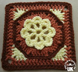 Octagon Garden Afghan Square