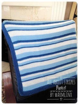 All About Stripes Baby Blanket
