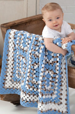 Around the Block Baby Blanket in Red Heart Soft Baby Steps - LW2650EN