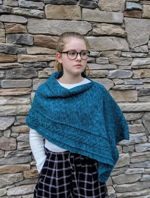 Braided Cable Wrap or Poncho